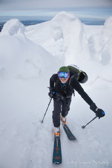 Ski touring in the Hakkoda Mountains requires navigating past snow monsters.