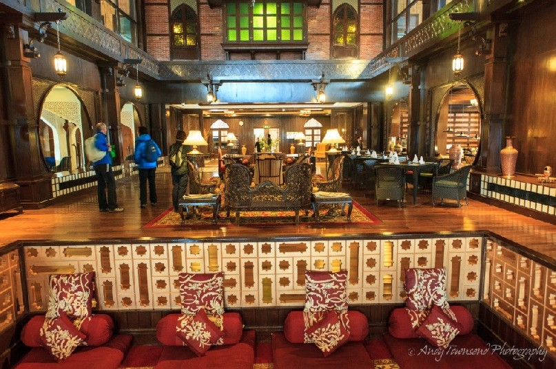 A lounge area in the Khyber hotel.