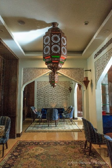 The entrance to one of the Khyber lounge areas.