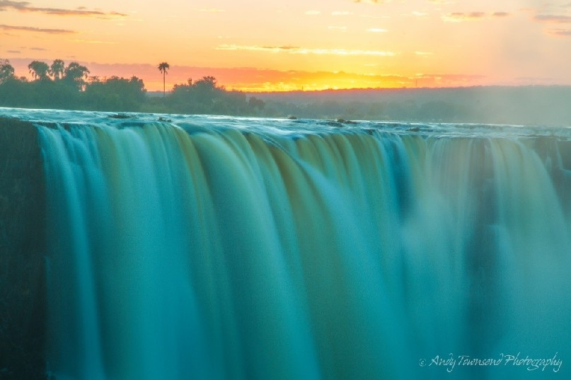 Sunrise over Victoria Falls.