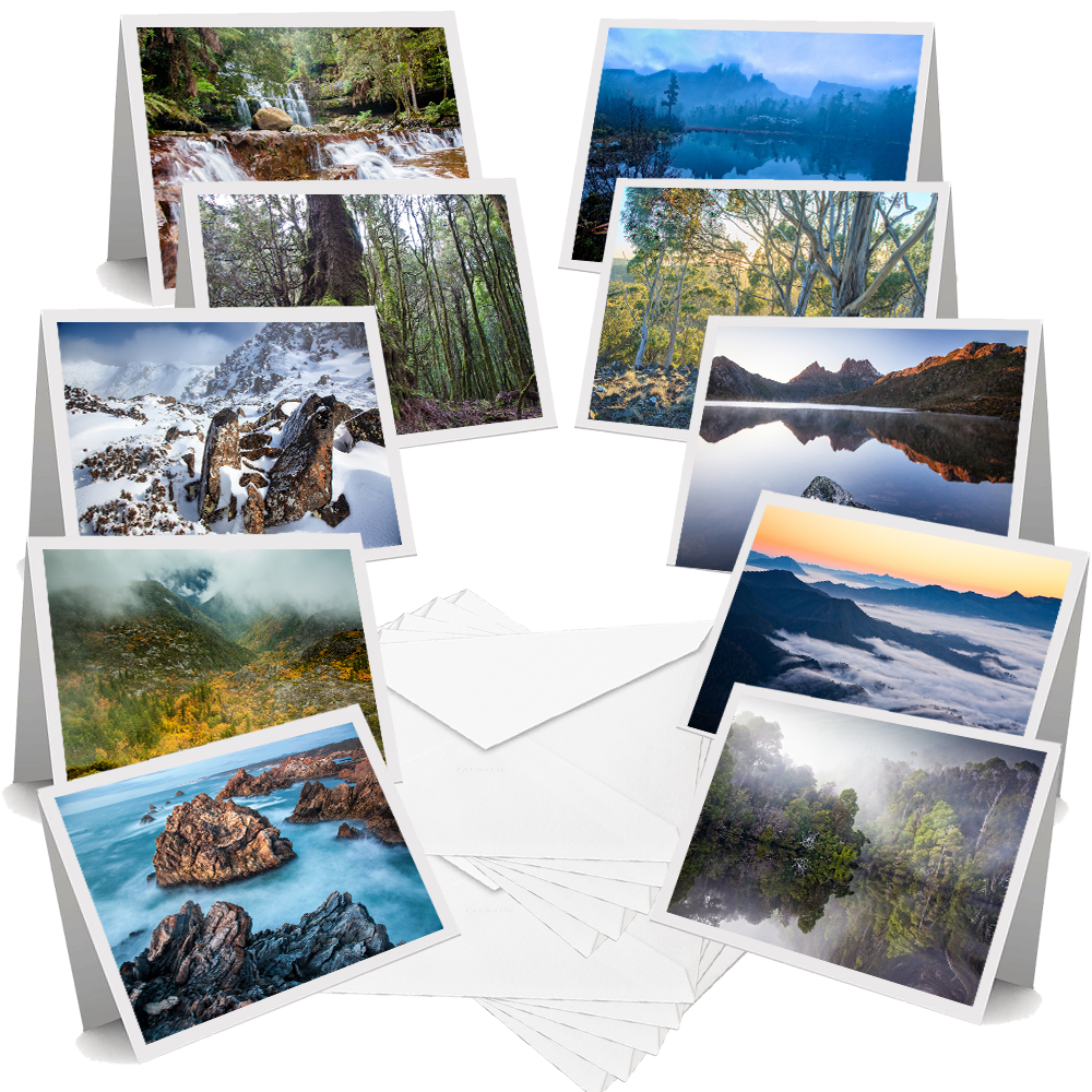 Tasmanian landscapes greeting cards pack of 10 m4hsunfo